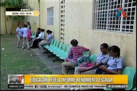 Educación Revela Informe Del Rendimiento Escolar