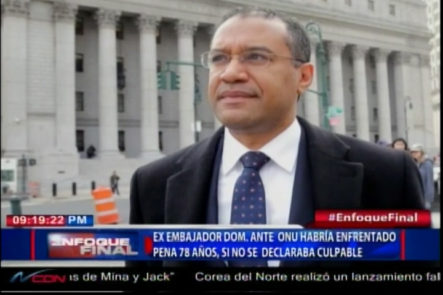 Ex Embajador Dominicano Ante La ONU Habría Enfretado Pena De 78 Años Si No Se Declaraba Culpable
