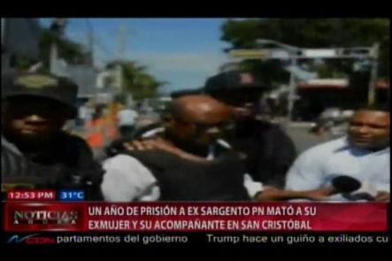 Seis meses de preventiva para ex sargento que mató a su ex pareja y su acompañante en San Cristobal