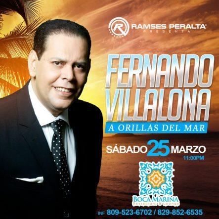 Fernando Villalona Este Sábado En Boca Marina
