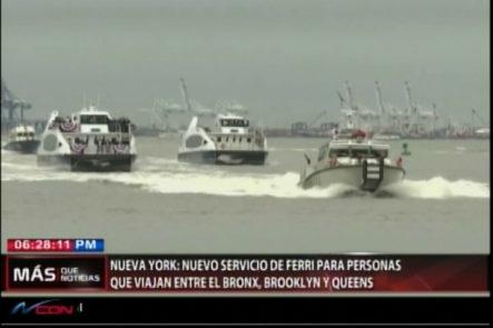 En New York Nuevo Servicio De Ferre Para Personas Que Viajan Entre El Bronx, Brooklyn Y Queens
