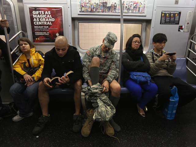 Annual No Pants Subway Ride Takes Place In New York City