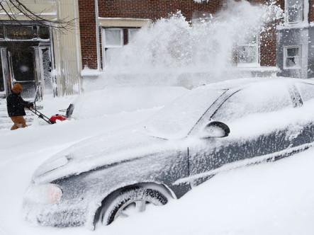 Feroz Tormenta De Nieve En EE.UU.