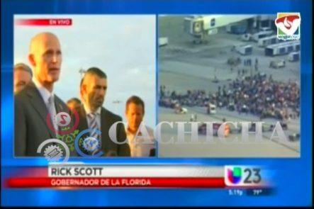 Conferencia De Prensa Del Gobernador De Florida Tras Balacera En Aeropuerto