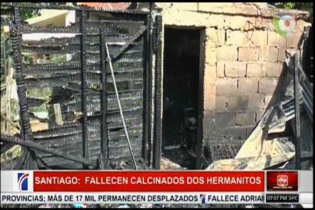 En Santiago Fallecen Dos Hermanitos Calcinados Producto A Un Incendio Provocado Por Una Vela
