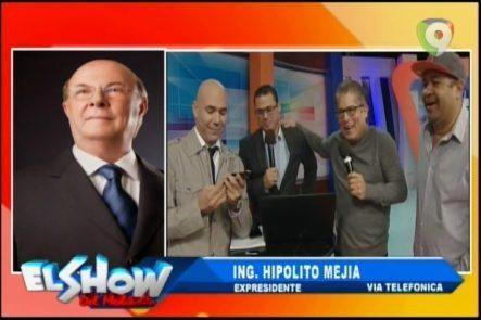 Llamada Exclusiva Del Ex Presidente Hipólito Mejía Al Show Del Mediodía