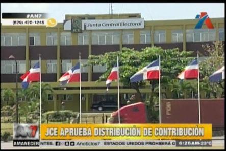 JCE Aprueba Distribución De Contribución De Partidos