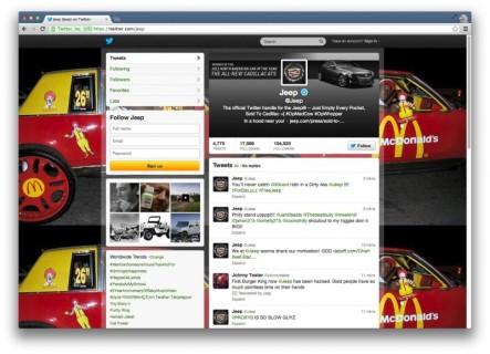 @Jeep Hackeado Hoy En Twitter, @BurgerKing Ayer