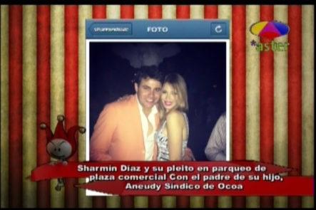 """Los Cirqueros Revelan """"El Pleito"""" De Sharmín Diaz Con El Padre De Su Hijo En Una Plaza"""