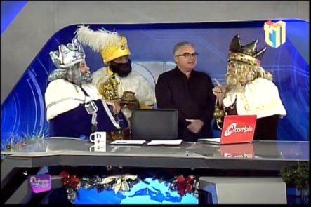 Los Reyes Magos Llegan A Visitar A Roberto Cavada A Los Estudios