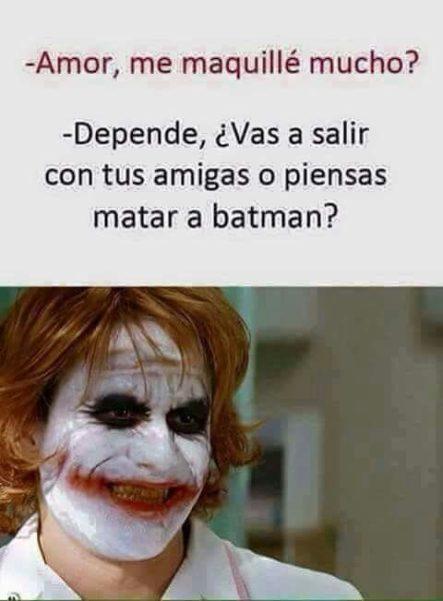 Maquillaje Nivel Joker xD #LaImagenDelDia