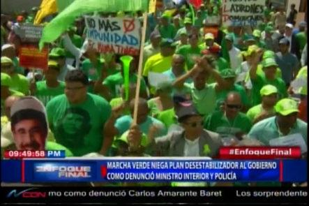 Marcha Verde Niega Plan Desestabilizador Al Gobierno Como Denunció Ministro De Interior Y Policía