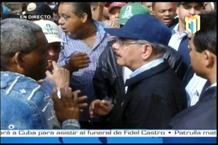 Visita Del Presidente Medina Para Evaluación De Daños Sufridos En Villa Isabela Por El Desbordamiento De Dos Ríos