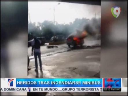 5 Heridos Luego Que Se Incendiara Minibús #Video