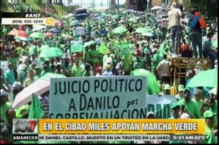 Miles De Personas De Distintas Ciudades Y Pueblos De El Cibao En Apoyo En La Marcha Verde