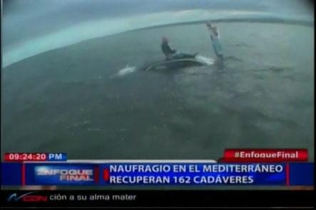 Recuperan 162 cadáveres del naufragio de en el Mediterráneo