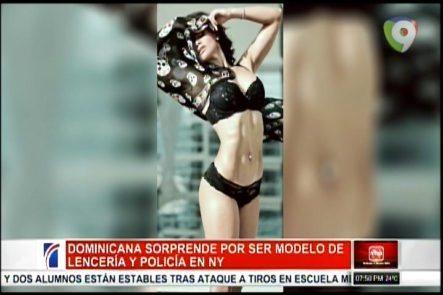 Mujer Dominicana Sorprende A Todos Por Ser Modelo De Lencería Y Pertenecer A La Policía De NY