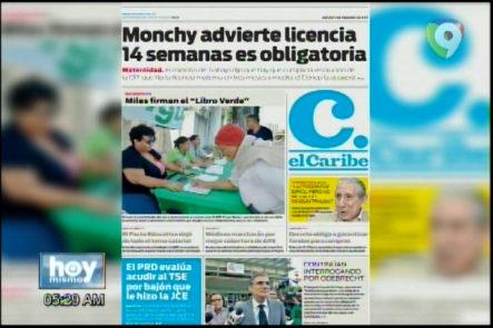 Portada De Los Principales Periódicos Del País 09-Febrero-2017