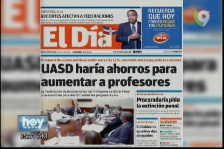 Portada De Los Principales Periódicos Del País 15-Febrero-2017