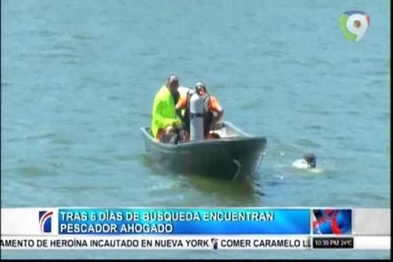 Tras 6 intensos días de búsqueda encuentran al pescador ahogado