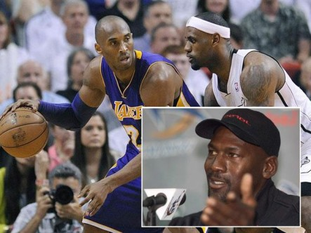 Michael Jordan prefiere a Kobe Bryant antes que LeBron James