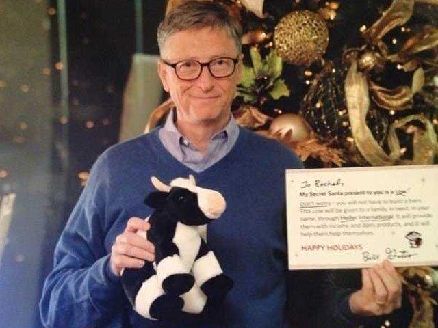 El sitio web ´Reddit´ organizó entre sus usuarios el juego de intercambio de regalos, conocido popularmente como ´Secret Santa´. Gates se encontraba entre los participantes.