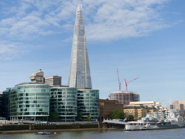El curioso hecho coincidió con la inauguración oficial del rascacielos Shard de Londres, el edificio más alto de la Unión Europea.