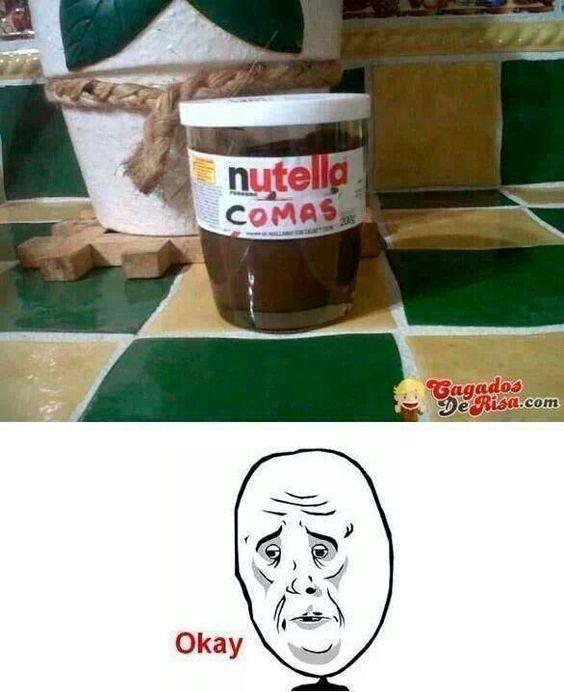 por favor nutella comas