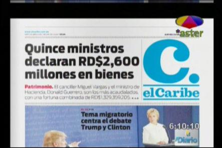 Portadas de los periódicos el día de hoy 20-10-16