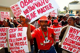 protesta contra obama