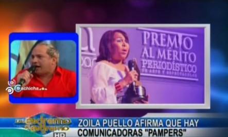 """Zoila Puello Afirma Que Hay Comunicadoras """"Pampers"""" @Nahiony #Video"""