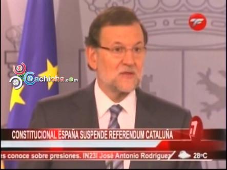 Se Suspende El Referendum De Cataluña #Video