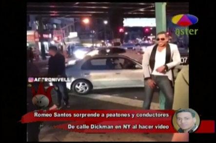 Romeo Santos Sorprende A Peatones Y Conductores De NY