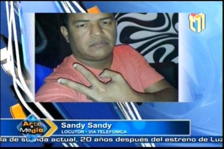Llamada de Sandy Sandy al Programa Arte y Medio donde explica la situación con Mozart