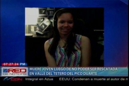 Muere Joven Dirigente Scout Luego De No Poder Ser Rescatada En Valle Del Tetero Del Pico Duarte