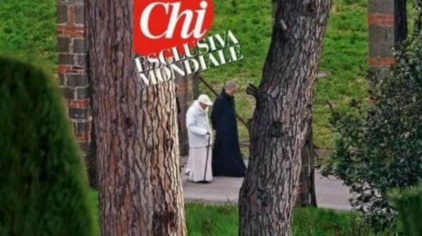 La primera imagen del Papa, después de la renuncia