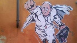 La cuenta oficial del Vaticano tuiteó un dibujo del papa
