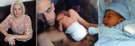 Bebé murió por un beso de su papá