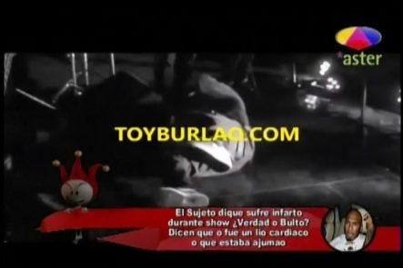 Los Cirqueros presentan supuesto infarto que sufrió El Sujeto durante un show ¿Verdad o bulto?