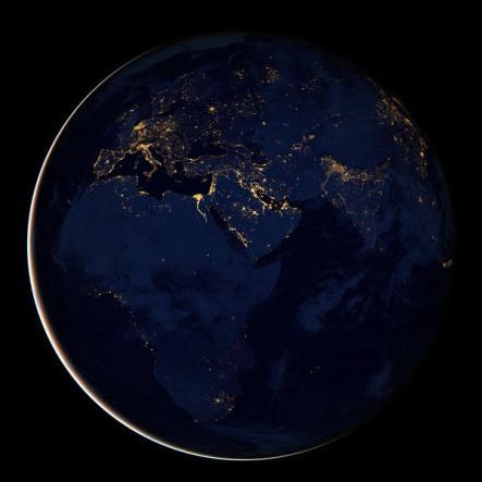 Las fabulosas imágenes de la Tierra sin nubes y de noche #Vídeo