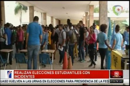 Se Realizan Las Elecciones, Estudiantes Con Incidentes En La UASD