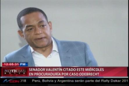 Senador Julio Cesar Valentín Citado Por La Procuraduría Para Ser Interrogado En Caso Odebrecht