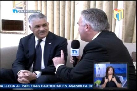 Entrevista exclusiva al canciller Miguel Vargas Maldonado por Roberto Cavada desde la ciudad de New York