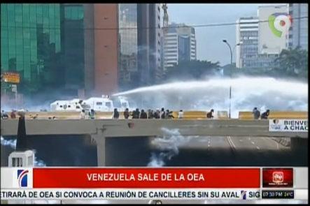 Canciller Venezolana Anuncia Que Venezuela Se Retira De La OEA