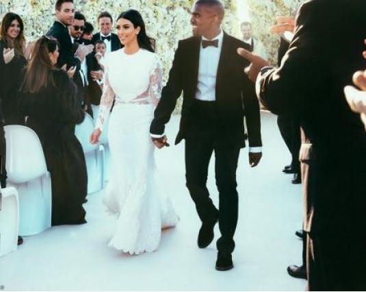 vestido de bodas de Kim 2