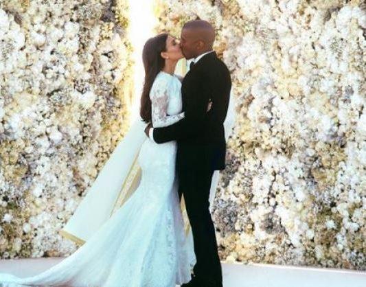 vestido de bodas de Kim