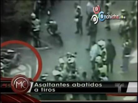 Asaltante Abatido a Tiros  Por Policías #Vídeo