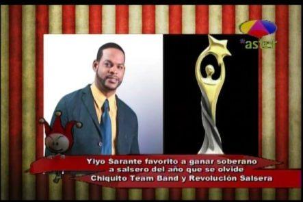 Yiyo Sarante El Favorito A Ganar El Soberano Salsero Del Año