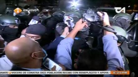 Momento En Que Trasladan A Argenis Contreras A La Fiscalía Del Distrito Nacional