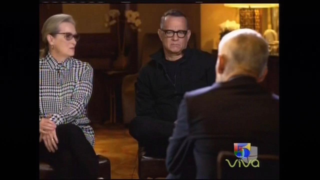 Jorge Ramos Entrevista A Tom Hanks Y Meryl Streep